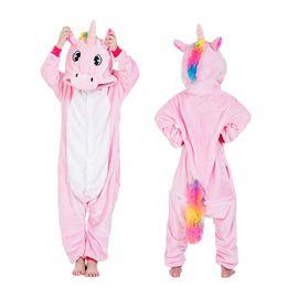tier-pyjamas für kinder Rabatt Kinderpyjamas Kigurumi Onesie Kinder Unicorn Pyjamas für Jungen Mädchen Pijamas Winter Tier Panda Teen Sleepwear Baby Jumpsuit