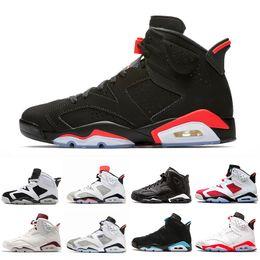 online retailer 561ec dfd71 Newest Black Infrared Men 6 VI 6s Basketball Shoes Tinker UNC Black Cat White  Red Carmine Mens Bred Designer Trainer Sports Sneakers 41-47
