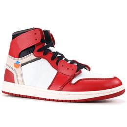 half off ddd0c c1de1 Nike Air Jordan 1 Retro Off White X High Chaussures de basketball pour  hommes OG UNC Blanc Chicago NRG No L s PAS POUR LA REVENTE NO PHOTOS 1S  Sneakers de ...