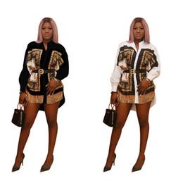 vestido verde safira Desconto Designer de camisa das mulheres vestido de luxo impresso vestidos de festa nacional casual roupas moda stand colarinho padrão de leopardo tops para 2019 novo