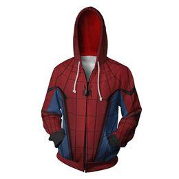 Magliette felpate da uomo di ragno online-2019 The 3 Iron Man Felpe Iron Spider man Venom Black Panther Spider-Gwen Pullover Felpa