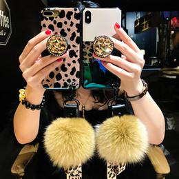 2019 nouvelle arrivée léopard avec boule de cheveux pour Apple Xs Max téléphone portable Shell modèles féminins 7p Vibrante support IPhone8plus lanière ? partir de fabricateur