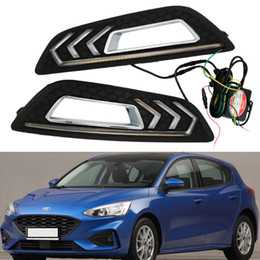 ford foco levou luzes Desconto Car Flashing 2pcs LED Branco Car Especial Daylight LED Daytime Running luz Modificado Mustang Lamp Fit para 15-17 ford luz do carro foco