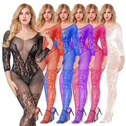 calze di seta Sconti ricamo interessante calze a rete esclusivi, maniche lunghe, calze di seta single-body open-file, i vestiti netti, seducente doppio corpo stock