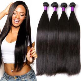 2019 tecelagem longa e barata Cabelo humano real virgem brasileira peruca reta cabelo pessoa real 100% não processado cor natural trançado cacho de cabelo longo e elegante
