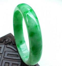 Jade bangles myanmar on-line-58--62cm Jade Pulseira flutuante verde Bangle Myanmar