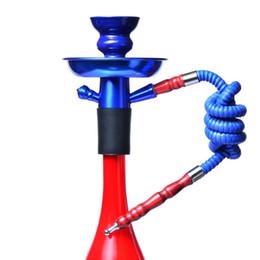 bongo diy Desconto Colorido Hookah Shisha Bong Fumando Conjunto de tubulação de Água Mini Portátil Kit de Hookah Árabe DIY Destacável Montado Viajando Sheesha Acessórios