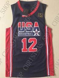 Camisetas de baloncesto juvenil barato online-Venta al por mayor barata John Stockton Jersey 1992 Olímpico Dream Team Sewn Basketball Jersey Personalizar cualquier número de nombre HOMBRE MUJER JOVEN