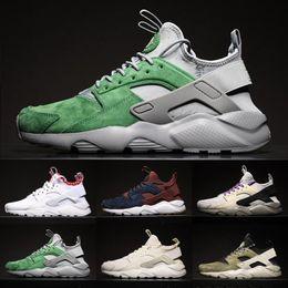2019 colori di huarache Nuovi colori Air Huaraches 4 IV scarpe casual per uomo donna Huarache Ultra mesh traspirante cuscino sneakers Eur 36-45 colori di huarache economici