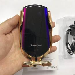 Cargador de coche inalámbrico qi online-2019 salida de aire y parabrisas Inducción automática 10 w cargador de automóvil inalámbrico qi de carga rápida automática Para Samsung Note 8 S8 S7 Toda Qi habilita