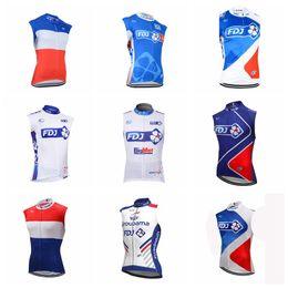 equipo ciclista fdj Rebajas Equipo FDJ Ciclismo Jersey sin mangas Chaleco 2019 hombres Ropa de ciclismo Conjuntos de bicicletas Pro Mountain Bike usan verano Maillot Ciclismo K021614