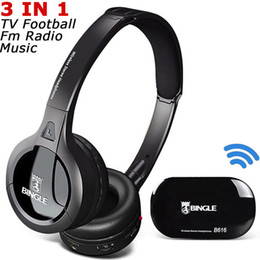 Originale Bingle B616 Cuffie stereo multifunzione con microfono FM Radio  per MP3 PC Cuffie auricolari wireless per TV PC Smartphone b8b3ccd8b634