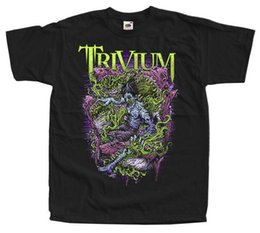 Poster in metallo nero online-Trivium V2, banda Heavy metal, metallo Groove, poster T-SHIRT (NERO) S-5XL