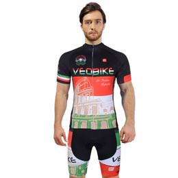 Vestiti da squadra a buon mercato online-VEOBIKE 2018 manica corta Ciclismo Maglia Pro Team Imposta Italia biciclette economico Cycle Abbigliamento Maillot corsa MTB Bike Abbigliamento Jersey