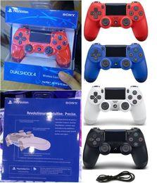2019 controlador de joystick barato El más nuevo PS4 inalámbrico Bluetooth Gamepad SHOCK4 controlador Playstation para PS4 controlador con caja al por menor dhl envío gratis