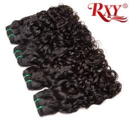 Acheter des cheveux péruviens vierges en Ligne-Paquets de cheveux de vague d'eau non transformés péruviens bouclés cheveux vierges Vague naturelle 10-26 pouces faisceaux de cheveux péruviens vague d'eau Acheter 2 Épargnez 3%