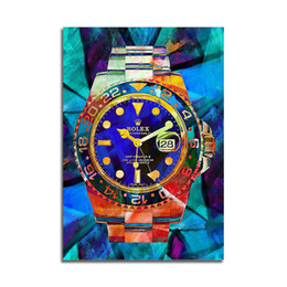 pintura con vista al mar Rebajas Arte lienzo de pared Relojes Rolex del arte pop de la lona de alta definición abstracta moderna del arte impresión del cartel Oficina Dormitorio Cafe Decoración T200118