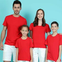papá ropa hijo Rebajas 1 Unids Family Look T-shirt Ropa A Juego de la Familia Madre e Hija Ropa Madre Hijo Trajes de Algodón Sólido Papá Hijo Hijo Ropa Y190523