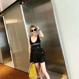 Argentina 2019 Verano para mujer Nueva falda plisada Sling Knit chaleco profesional Discoteca Sexy Set mujeres trajes de verano de dos piezas supplier nightclub vests Suministro