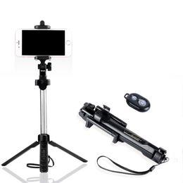 Stand di bastoni selfie online-Bluetooth Treppiede allungabile Bluetooth Selfie Stick con telecomando wireless e supporto monopiede per Samsung Note8 Huawei P10 xiaomi iPhone X XR