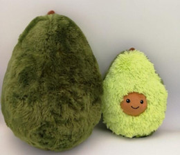 Brinquedo de boneca on-line-Abacate Brinquedo De Pelúcia Cushion Frutas Bonitos Brinquedos De Pelúcia Recheado Bonecas Almofada Travesseiro Para Crianças Presente Das Crianças