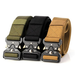 free molle gear Coupons - 9 Color Tactical Gear Heavy Duty Belt Nylon Metal Buckle Swat Molle Padded Patrol Waist Belt Tactical Hunting Accessories Outdoor military