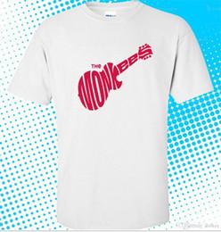 Faixa branca dos homens camisetas on-line-The Monkees Rock Band Logotipo Da Música camisa branca T dos homens tamanho S para 3XL camisa de Algodão slogans Camisas personalizadas para mens