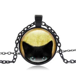 Binário de jóias on-line-Moda Retro Colar De Punk Simulado De Vidro Rodada Preto Legal Colar de Gato Senhoras Jóias Pendientes Elegante Colares Torque