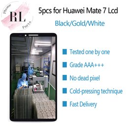parts for huawei Promo Codes - 5PCS for original LCD HUAWEI Mate 7 LCD display touch screen digitizer spare parts MT7-TL00 for MATE7 Mate 7