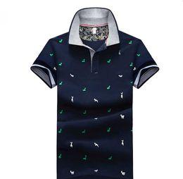 рубашки поло для мужчин Скидка Мужчины летняя мода Поло 2019 дизайнер мужская повседневная сплошной цвет мода рубашки поло Мужчины Марка печати олень шаблон поло Мужчины топы плюс размер M-4XL