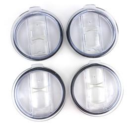 Coperchi per bicchieri trasparenti Coperchi per bicchieri Coperchio per coperchi scorrevoli per auto da 20 30 oz Boccali per birra Splash Spill proof da