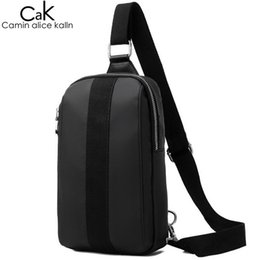 f8549ffcfa CAK Brand Man s Sling Bag High Quality Nylon Men Messenger Chest Bags For  Young College Student Casual Party Crossbody Bag Black