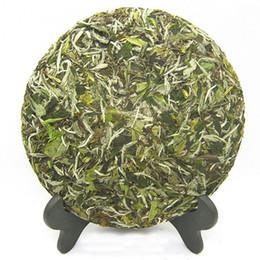 Gâteaux verts d'argent en Ligne-Super gâteau chinois au thé blanc Puer 350g Sessile Silver Needle Vieux thé blanc Fuding naturel biologique