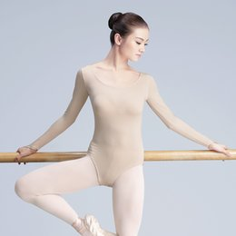 skins clothing Promo Codes - Skin Color Ballet Dance Leotard Women Girls Adult Dancer Underwear Nude Ballet Clothes