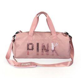 Розовые кошельки онлайн-Розовая дизайнерская сумка Sugao Сумки для путешествий с большой вместимостью Кошельки и сумки через плечо Роскошная сумка для путешествий Организатор путешествий Сумки для путешествий