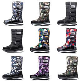 waterproof camo fabric Promo Codes - Fashion designer boots for women men Camo Half Boot Classic snow winter boots waterproof platform booties 36-46 HOT Sale