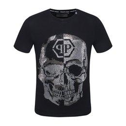 Canada 2019 Imprimé Phillip Plain T-Shirt Mode Casual Fitness Cool O-cou Ours Homme T-shirt D'été À Manches Courtes Pour Hommes Vêtements Skull Top cheap cool fashion shirts for men Offre