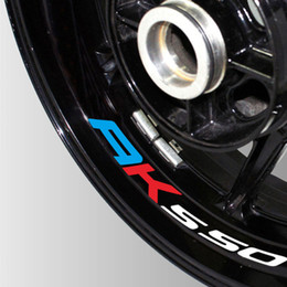 reflective bike decals Coupons - A set of 8pcs high quality Motorcycle Wheel Sticker Decal Reflective Rim Bike Motorcycle Suitable For KYMCO AK550 ak 550
