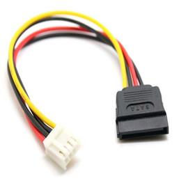 Cavo da 15 pin online-4Pin FDD Floppy femmina a 15 pin SATA convertitore femminile dell'adattatore di potere porta del cavo del cavo 18AWG Filo per ITX PC