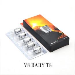 2019 bobina q2 2018 100% Original V8 Baby Besta Bobina Heads V8 Bebê Q2 Q4 X4 T6 Substituição Vape Núcleo Bobinas bobina q2 barato