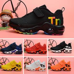 2019 scarpe da passeggio a fondo duro Nike Mercurial Air Max Plus Tn 2019 Kids TN Plus Designer Sport Running Shoes Bambini Boy Girls scarpe da ginnastica Tn Sneakers Classic Outdoor Toddler Shoe