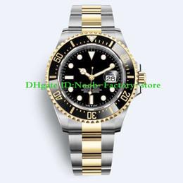 Argentina 2019 Basel World 43mm SEA Reloj para hombre en dos tonos de oro 2813 Movimiento Bisel de cerámica 126603 Relojes con estilo nuevo Caja original cheap box world Suministro