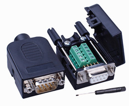 Rs232 db9 weiblich online-DB9-Steckverbinder COM transferfreier Lötanschluss DB9-Steckverbinder RS232 DB9-Breakout D-SUB-Steckverbinder Buchse DIY
