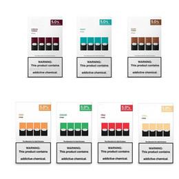 ecigs diy Rabatt Neue Verpackung Mango Minze Pod-Patrone kompatibel für Juuls kühlen Hülsen mit log nachfüllbar gem VGöD stig Kit 8 Farben leer