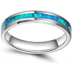 6 мм имитация опал материал инкрустация вольфрама кольцо обручальное кольцо высокой полированной комфорт подходят ювелирные изделия кольцо от