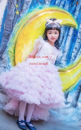 Hacer ropa de bebé niña flores online-Vestidos veraniegos ropa para bebés Ropa bordada a medida de color rosa Vestido de fiesta vestidos de niña de flores para la boda nupcial ropa para niños niñas BD-3