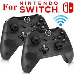 Interruttori wireless remoti online-Hot Controller wireless Bluetooth per Switch Pro Controller Gamepad Joypad Remote per Nintend Switch Console Gamepads Joystick