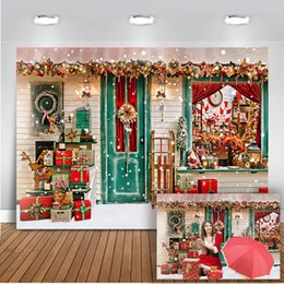 decorazione spray a neve Sconti Mehofoto Christmas Party Scenografia Inverno Decorazione Neve Fotografia rosso da sfondo Newborn Birthday Photo Background Video