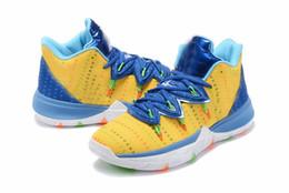 2019 tvs für billig 2019 neue Ankunfts-Mann Kyries 5 Schuhe TV PE-Basketball-Schuhe 5 für Billig 20. Jahrestag Sponge x Irving 5s Turnschuhe Größe 40-46 rabatt tvs für billig