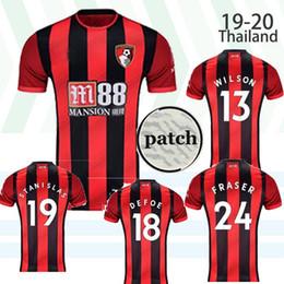 Camiseta de fútbol de color negro online-WILSON 13 18 19 20 DEFOE Un hogar lejos de color rojo negro de Bournemouth AFC fútbol Jersey 19 STANISLAS 2019 2020 Camiseta de fútbol 24 FRASER